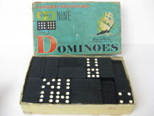 Vintage Parker Brothers Clipper Ship Boats Double Nine Dominoes 1960 toy game