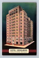 Postcard LA Baton Rouge Louisiana Hotel Heidelberg c1940s Linen Y21
