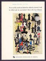 1959 Guen Inokuma art Eternal Law Quote by Budda CCA vintage promo print ad