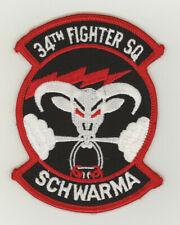 USAF patch 34 Fighter squadron F16C / F35A Hill AFB