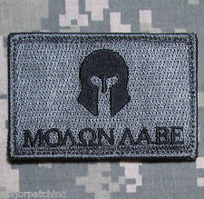 MOLON LABE SPARTAN ARMY USA MORALE BADGE ACU DARK PATCH VELCRO® BRAND FASTENER