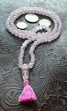 Rose Quartz Handmade Mala Nirvana Beads Necklace - Blessed & Energized