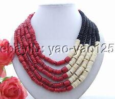 Amazing! Spongy Coral&Onyx Necklace