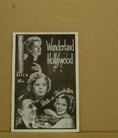 [K4-78] Fila Der Filmschriften Cuaderno #8 Wunderland Hollywood Raro