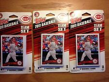 2011 Topps CINCINNATI REDS TEAM SET Lot (3) 17 Cards Votto, Bruce , 3/$9.99