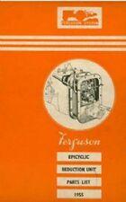 Ferguson Epicyclic Reduction Unit Parts Manual - Dated 1955