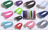 10pcs Lobster Clasp Korea Wax Cords Line Cord Necklace 1.5mm 2.0mm