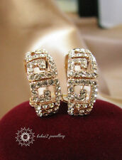 Simulated Diamond/Hollow-out Stud Earring/RGE374/009