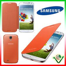 2X PELLICOLA+Custodia originale Samsung per Galaxy S4 i9505 Flip Cover ARANCIONE