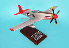 Tuskegee Airman P51C Signed By Charles McGee 1:24 Scale Mahogany Model Autograph