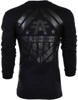 AMERICAN FIGHTER Mens LONG SLEEVE T-Shirt AVERETT Athletic BLACK Biker $54 NWT