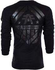 AMERICAN FIGHTER Mens LS T-Shirt AVERETT Athletic BLACK REFLECTIVE Biker UFC $54