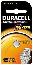 4 Pack Duracell 301 / 386 Silver Oxide Battery 1 Each