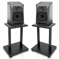 PYLE PSTND18 Home Studios Set of 2 Speaker Stands Bookshelf Monitor Black