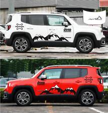 Graphics Vinyl Snow Mountain Car Sticker Bonnet Decal For Jeep Renegade Cherokee