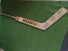 rare Washington Capitals Game used GOALIE STICK #32 Bernie Wolfe 1970s NHL KOHO