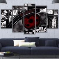 Sharingan Eye Anime 5 panel canvas Wall Art Home Decor Poster Print