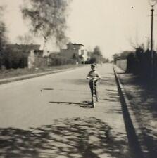 Vintage Photograph Little Boy Riding His Bike Cool Image 1960 D6