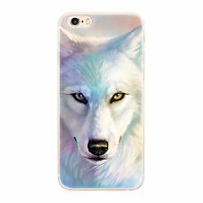 Soft TPU Phone Case Cover  for iphone 5 5s SE Wolf Print Silicone Back Shell