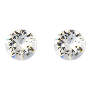 8mm Stud earrings embellished with crystal by Swarovski ~choose from 17 colours