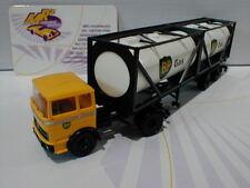 """Brekina 81046 # MB LPS 1620 Tank Sattelzug """" BP Gas """" in gelb-weiß 1:87 NEU"""