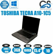 "Windows 10 Toshiba Tecra A10 15.4 "" PORTATILE INTEL CORE 2 Duo 3GB RAM 160GB HDD"