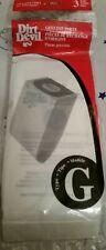 Dirt Devil Type G Vacuum Cleaner Bags / 3 Pack - Generic OEM 3010347001