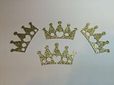 """DIE CUT SET 60 CROWNS GOLD GLITTER 1"""" H EMBELLISHMENTS, CARD & PARTY DECORATIONS"""