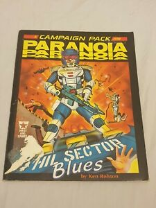 Paranoia RPG Hill Sector Blues West end games rpg vintage 1986