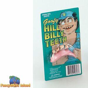 HALLOWEEN HILL BILLY GOOFY ROTTEN TEETH Mens Fancy Dress
