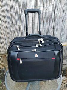 "Executive Lombard Laptop Roller Bag Wheeled Pilot Case Overnight & 15"" - 17"" L"