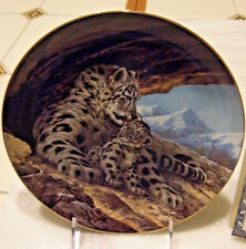 Snow Leopard Plate-Last of their Kind-2nd issue-W.Nelson/Wlgeorge/U sa
