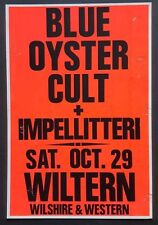 BLUE OYSTER CULT/IMPELLITTERI Original Promo Concert Poster '88 Heavy Metal MTV