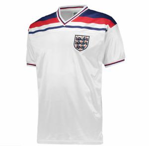 England 1982 World Cup Finals Retro Football Shirt Mens.