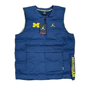 Air Jordan Michigan Wolverines Down Alt Puffer Vest, Size Medium NWT 880902-419