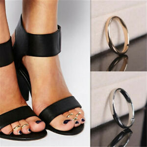 Adjustable Size Toe Rings Silver Gold Fashion Beach Foot Band Jewelry Gift