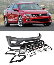 For 15-17 Volkswagen Jetta Sedan 4Dr Front Bumper Cover Kit w/ Grille GLI Style