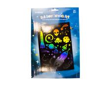Engraving Foil Rainbow Scratch Art Kit Colourful Stencil Set Scraper Paper Set
