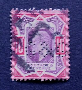 Great Britain 1902 10d Used Perfin  Stamp