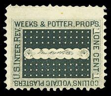 Scott RS259d 1878 1c Weeks & Potter Medicine Revenue on Wmkd Paper Fine Cat $6