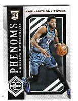 Karl Anthony Towns 2015-16 Panini Limited PHENOMS Rookie RC #1 Timberwolves