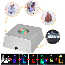 3 LED Color-Changing Light Crystal Crafts Figurine Display Stand Base Ornament