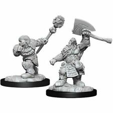MAGIC THE GATHERING: UNPAINTED MINIATURES - DWARF FIGHTER & DWARF CLERIC