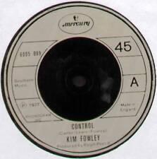 "[JOHN CARTER] KIM FOWLEY ~ CONTROL / RUBBER RAINBOW ~ 1977 UK 7"" SINGLE"