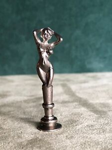 Posing Nude Pipe Tamper, Solid Fine Pewter