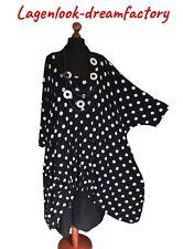 My Obsession Lagenlook Balloon-Dress - Tunic Black-White Dots XXL,XXXL,4XL,5XL
