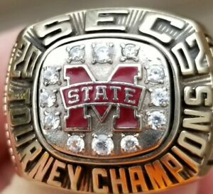 2002 MISSISSIPPI STATE BULLDOGS SEC CHAMPIONS CHAMPIONSHIP RING 10k GOLD PLAYERS