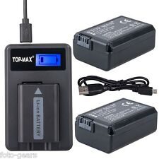 2x NP-FW50 Akku + USB Ladegerät für Sony ILCE QX1 Alpha 5000 5100 6000 6300 7