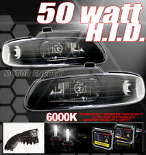 96-00 GRAND CARAVAN TOWN COUNTRY VOYAGER CRYSTAL HEADLIGHTS+HID 50W LAMPS BLACK