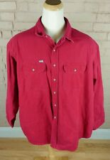 Vintage Carhartt Red Work Chamois Shirt Heavy Thick 3XL